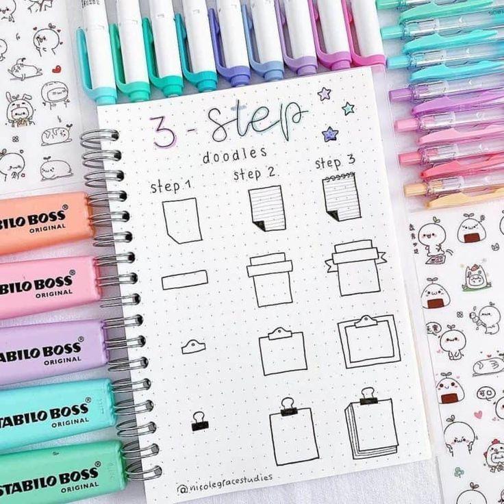 Bullet Journal Doodles: 20 Amazing Doodle Ideas For