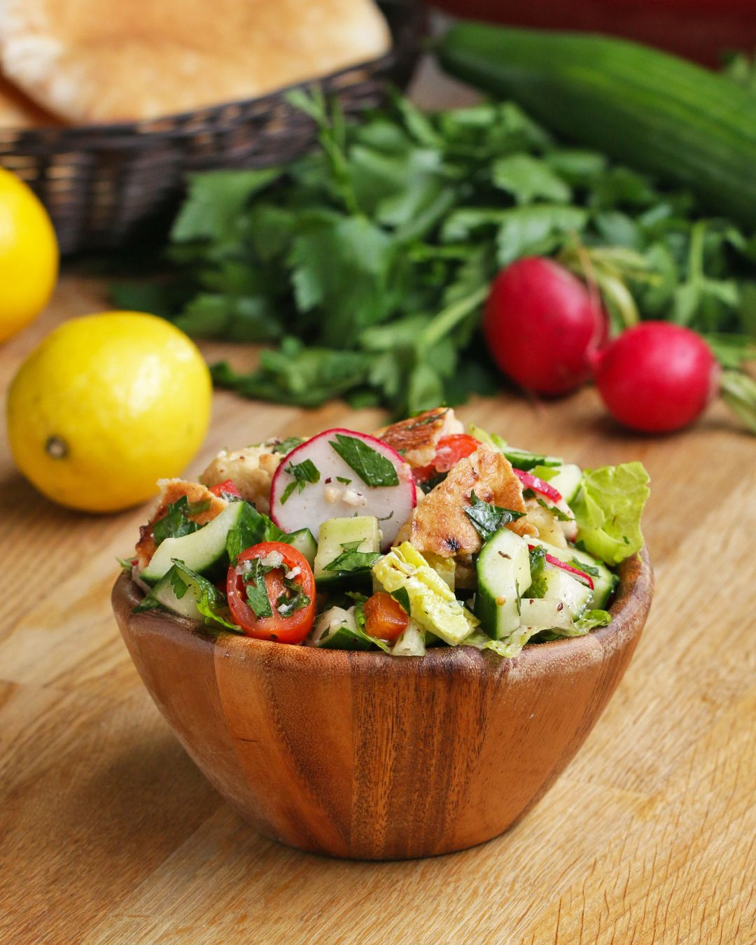 Middle Eastern Pita Salad Fattoush Salad