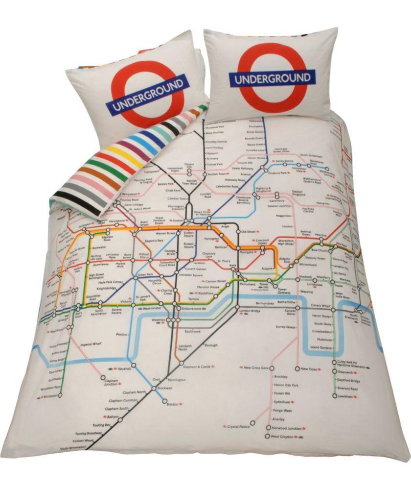 Living London Map Duvet Cover Set Double At Argos Co Uk