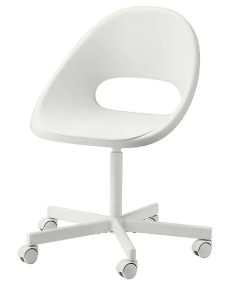 Loberget Blyskar Swivel Chair White Ikea In 2020 Cheap Desk Chairs White Desk Chair Cute Desk Chair