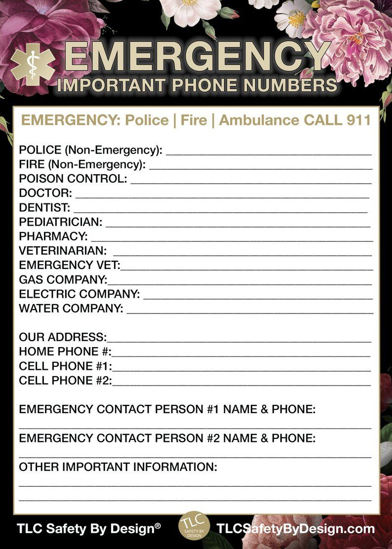 Emergency Contact Cards Magnetic Sleeve Home Alone 5 5 X 7 5 Etsy Emergency Contact Contact Card Emergency