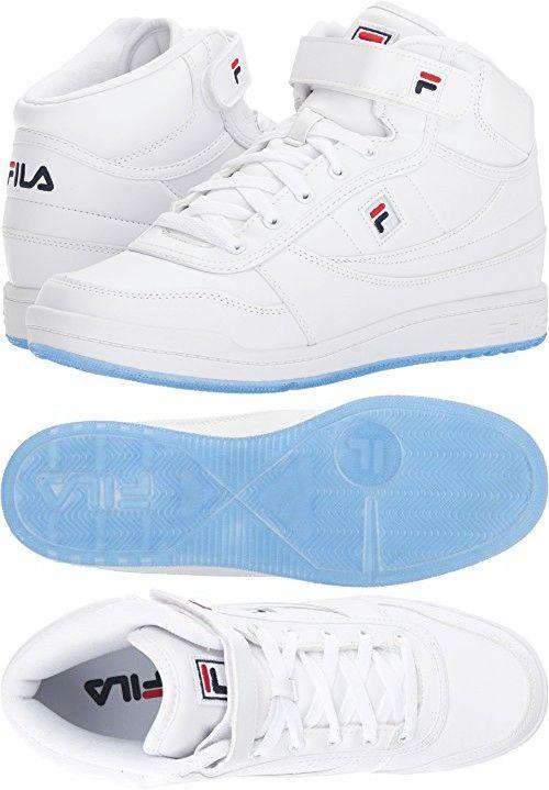 3829c30e5a41 Fila Men s BBN 84 Ice White Fila Navy Fila Red Athletic Shoe