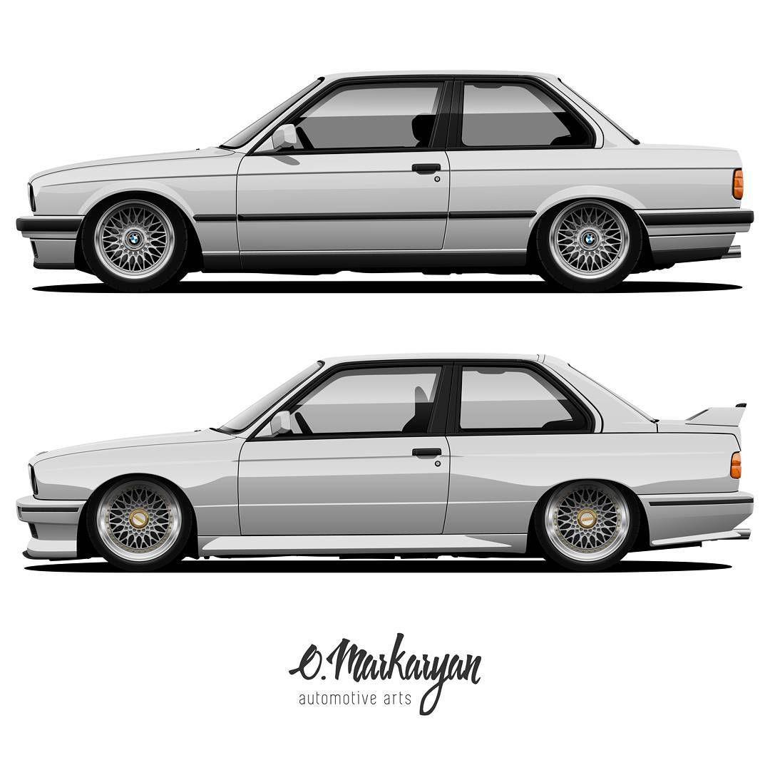 Bmw E30 Coupe Bmw E30 M3 Evo Vector Arts You Can Also Order