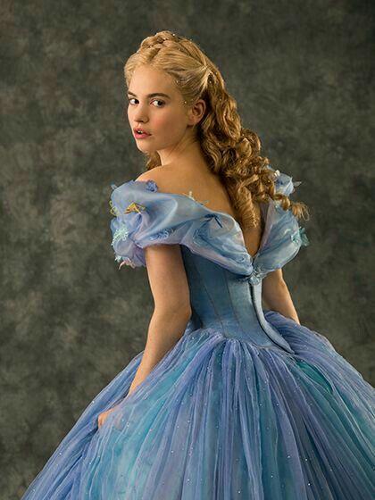 b8dada4130 Lily James is beautiful as Cinderella.