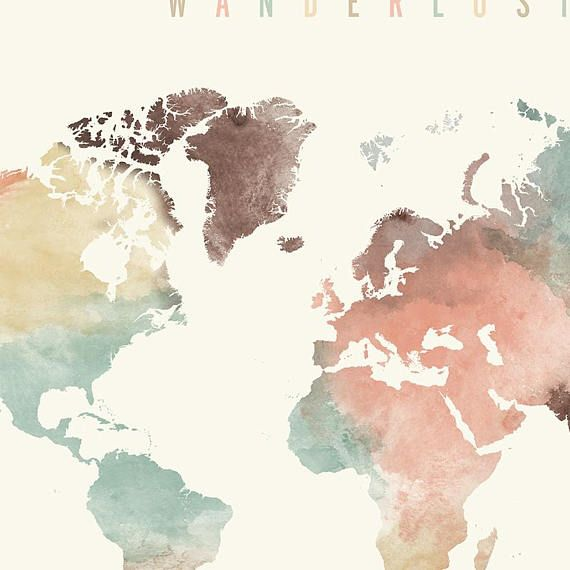 Wanderlust world map print world map poster world map art world wanderlust world map print world map poster world map art world map wall art watercolor travel map large world map artprintsvicky gumiabroncs Choice Image