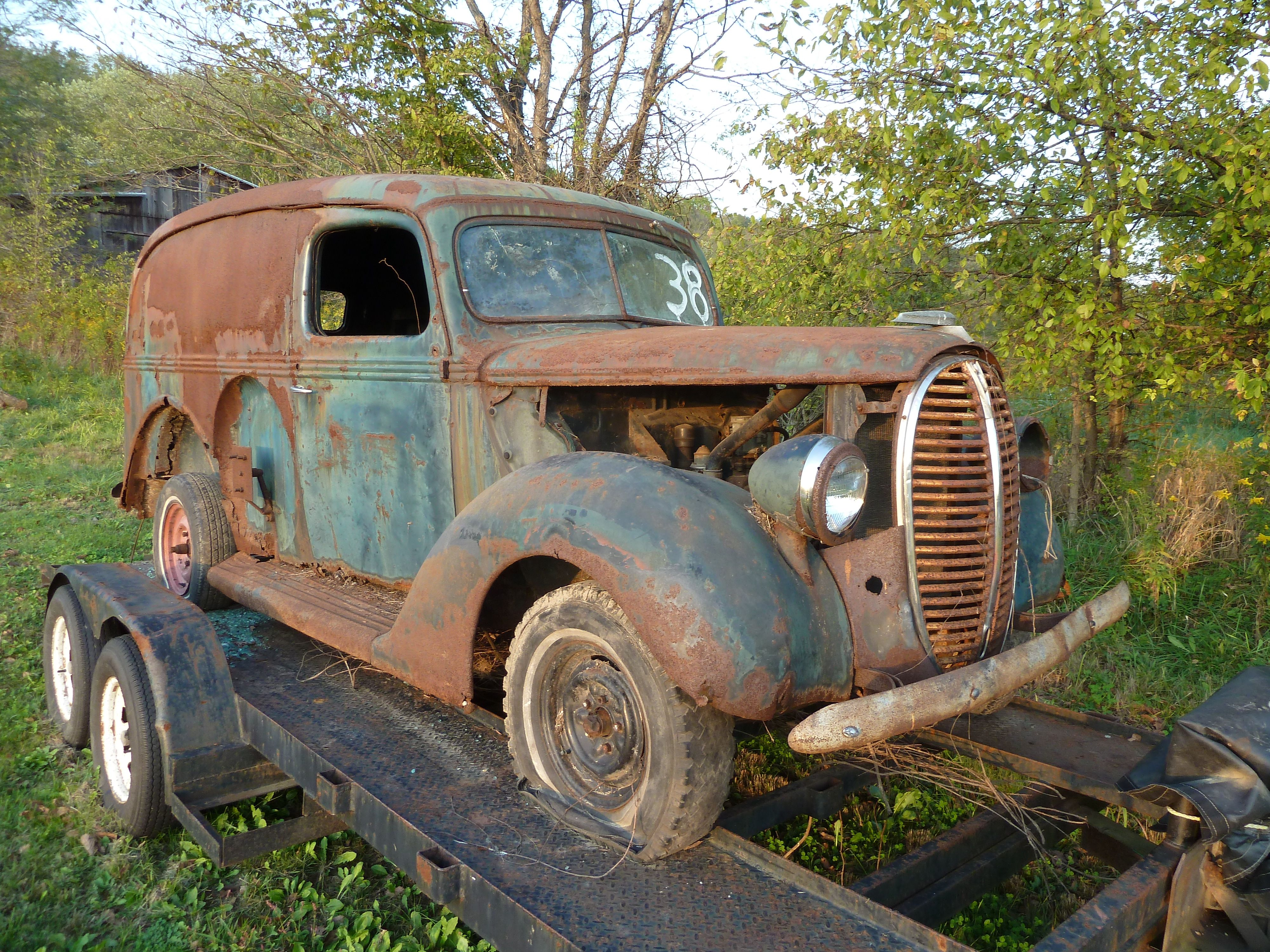 vintage ford truck with rust