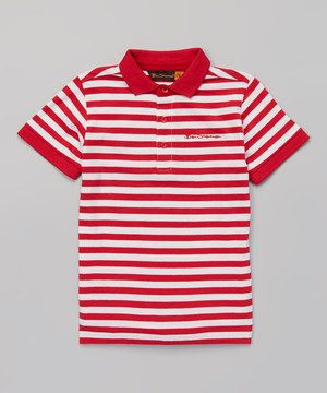 Love this Ben Sherman Red Stripe Polo - Infant, Toddler & Boys by Ben Sherman on #zulily! #zulilyfinds