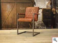 Stoere industriele stoel gemaakt van 100% handgewassen