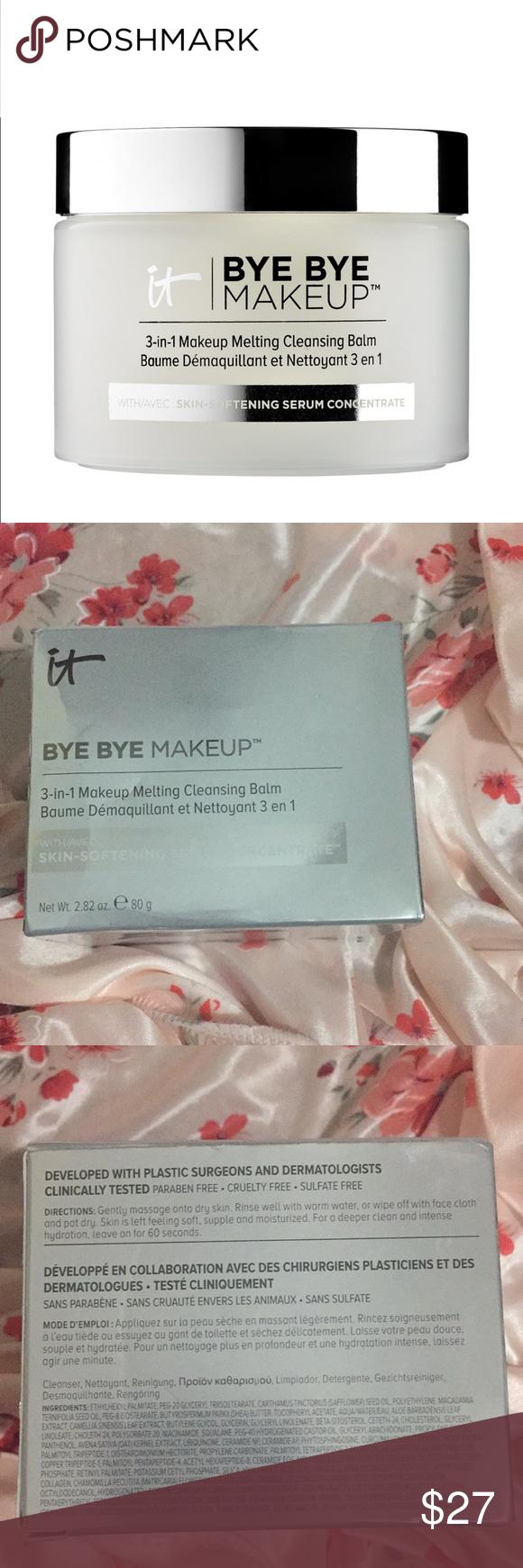 NIB Sephora Bye Bye Makeup cleanser balm The balm