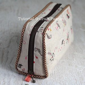 Sewing | Zipper Pencil Case | Free Pattern & Tutorial at CraftPassion.com