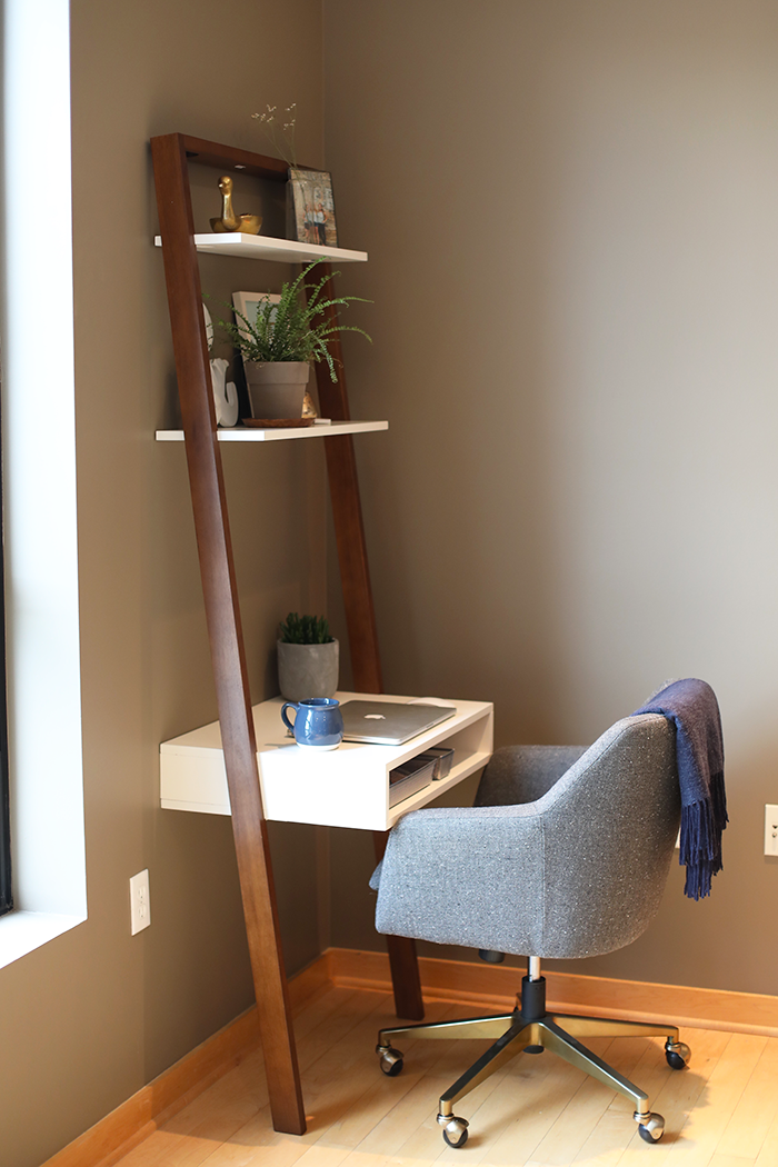 This Amazing Ladder Desk Is The Perfect Workspace For A Small Space And Super Reasonably Priced At West Elm Home Furniture Home Office Design Home Decor