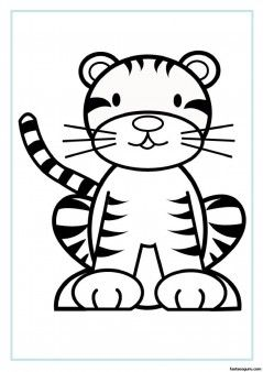photograph about Tiger Printable identified as No cost printable animal tiger little one colouring sheet for little ones