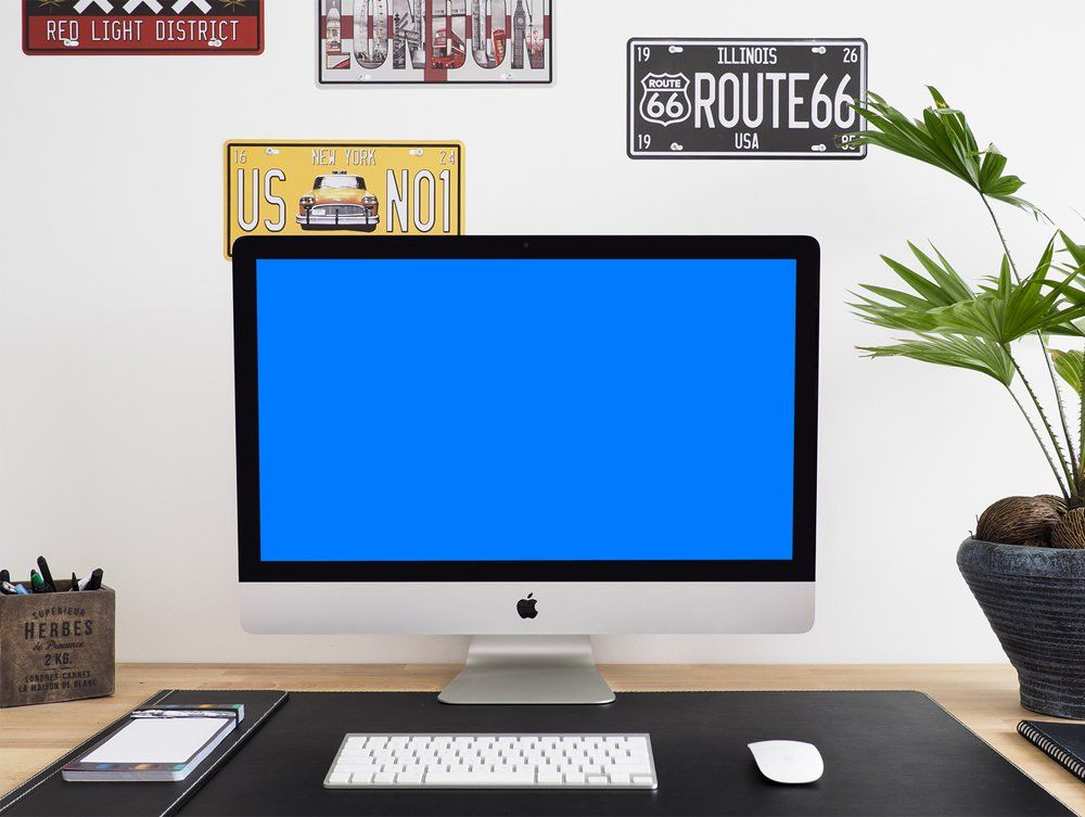 iMac Mockup PSD | Free Workspace Mockups | Pinterest | Mock up and ...