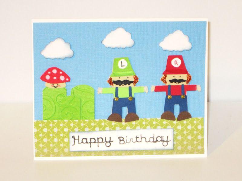 Mario Brothers Birthday Cards Super Mario Bros Birthday Card
