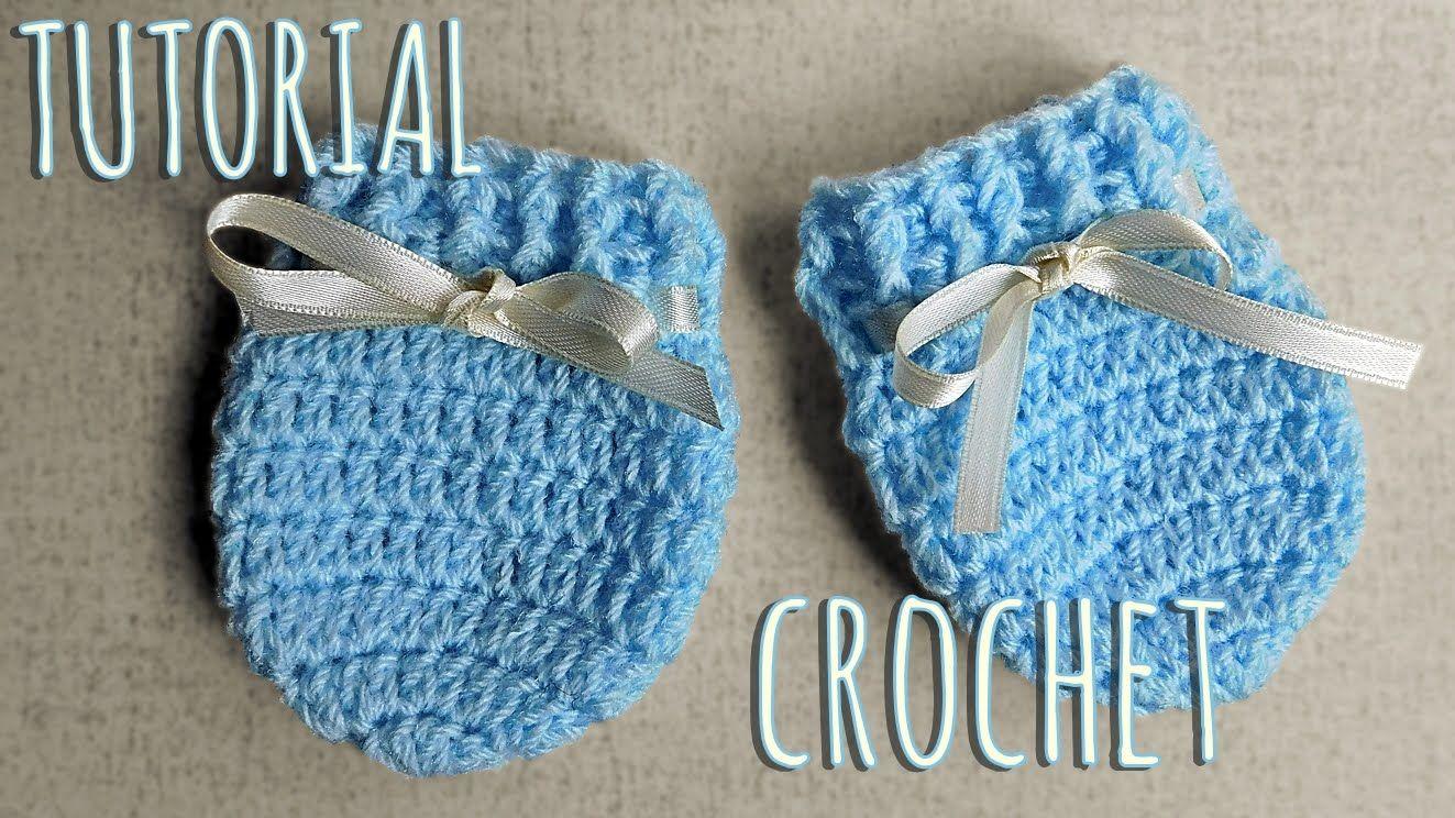Como tejer a crochet manoplas para bebes-Unisex | Zapaticos, ropitas ...