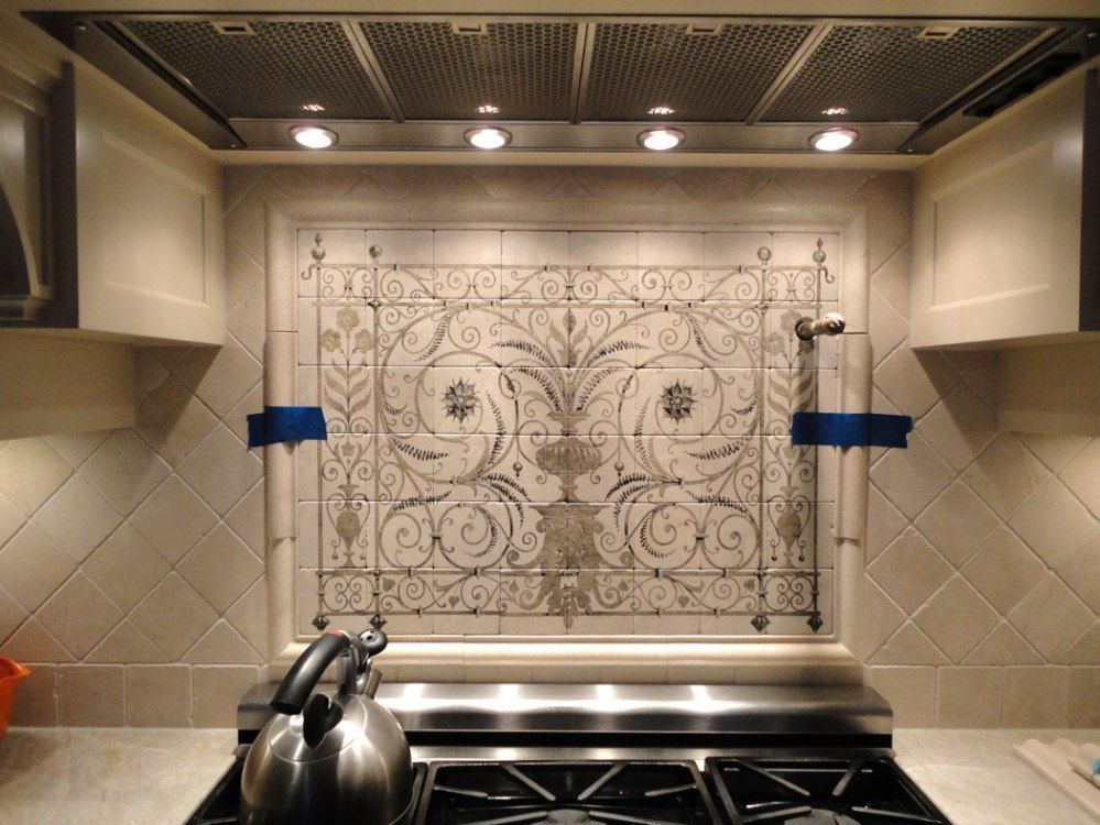 Canvas Of Get Your Kitchen Bathed With Awe With The Touch Of Gorgeous Spanish Tile Backsplash