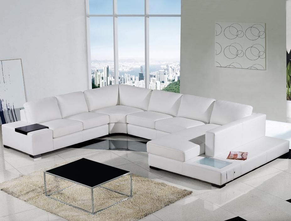 Luxury White Leather Sectional Couch Modern White Leather Sectional Sofa In 2019 Sofas White Leather Sofas Modern Leather Sofa Living Room Sofa Design