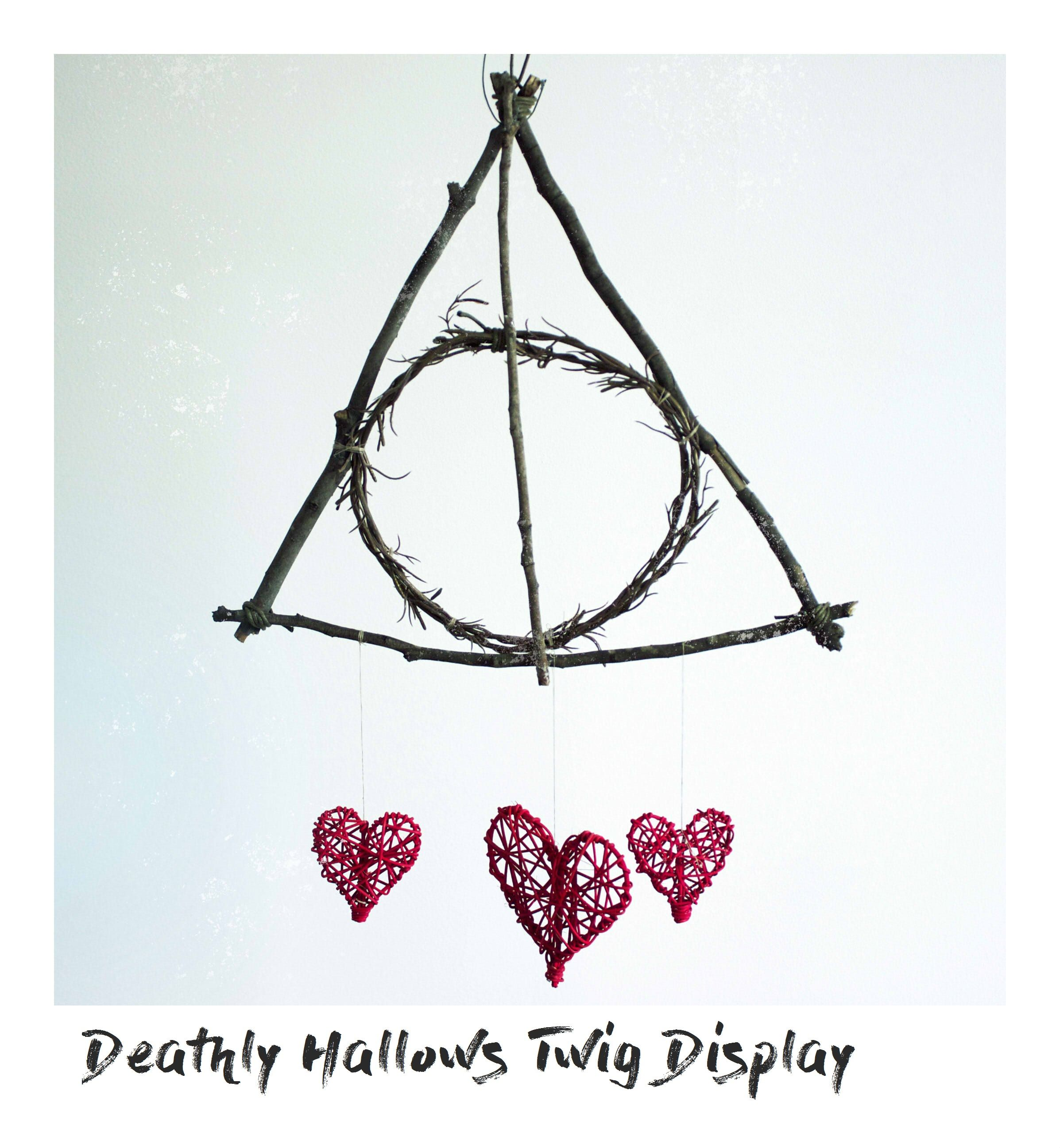 Deathly Hallows twig display decor | DIY Projects | TJSOM | Pinterest