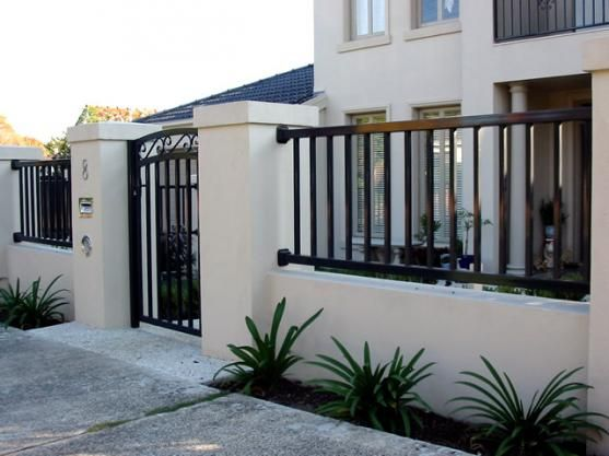 simple modern gate design - Google Search | Home - Fencing ...