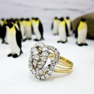 Gold Diamond Cartier Ring
