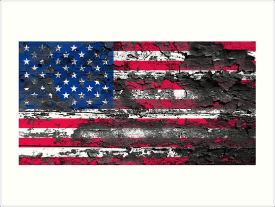 Wallpaper Usa Flagge Kunstdruck Von Pm Artistic Usa Flagge Kunstdruck Papierwande