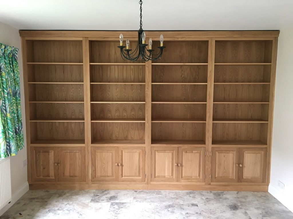 Solid Oak Fitted Bookcase. Bespoke And Made To Order. Cobwebs Furniture  Company.