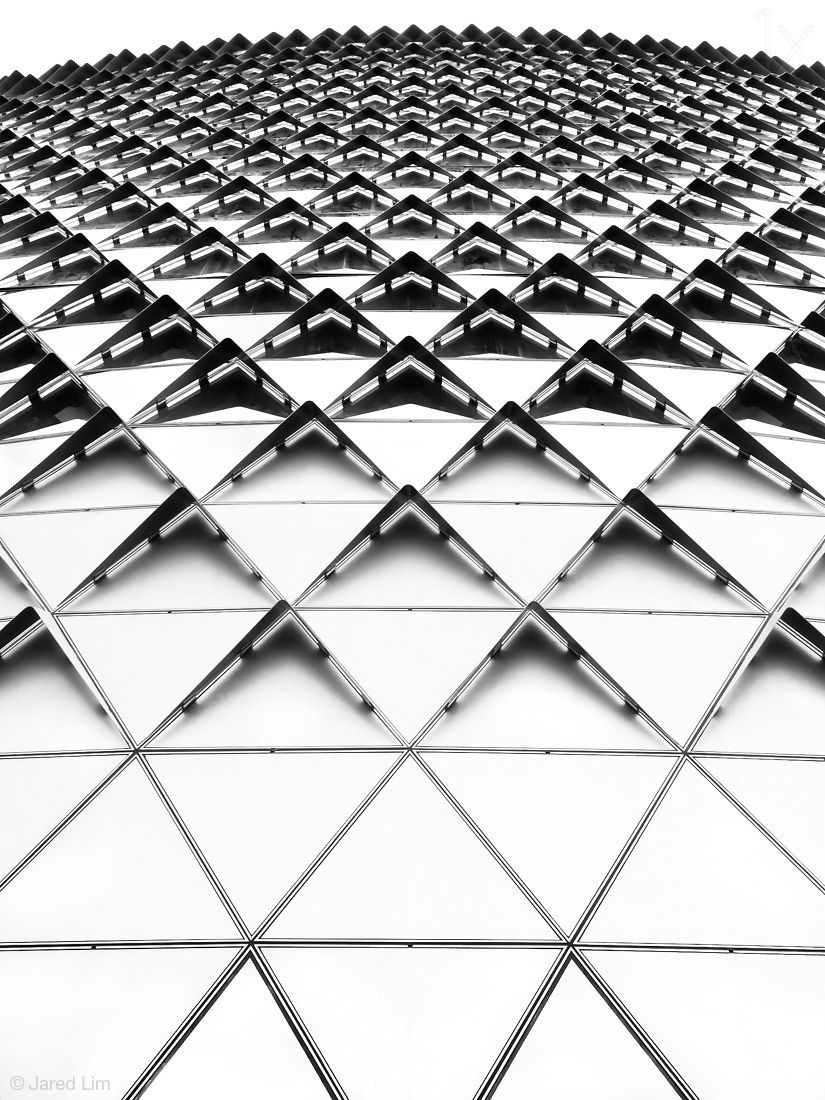 Textural Patterns In Architecture With Geometric Shapes Contrast