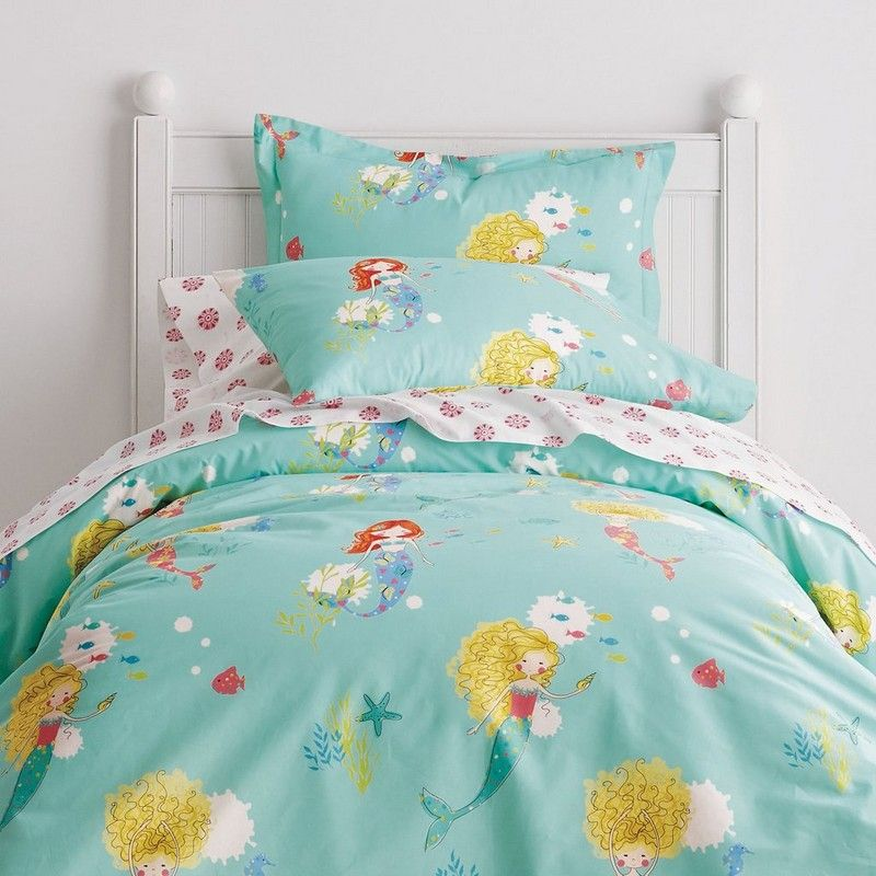 Mermaid Tale Duvet Cover Swim Pretty Mermaids Mystical Magical Sea Friends Enjoy