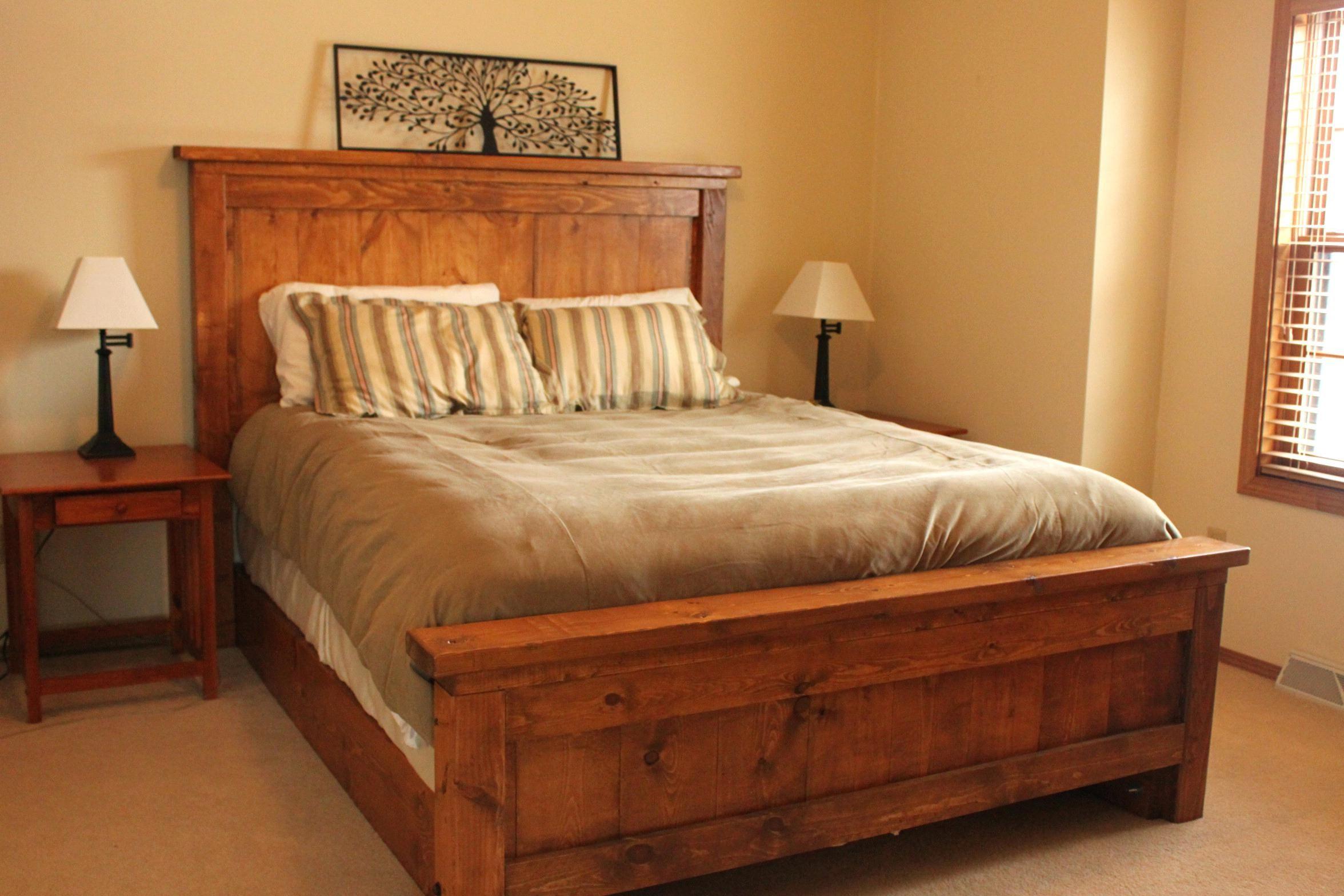 Holz Plattform Bett Rahmen Queen Bauernhaus Bett