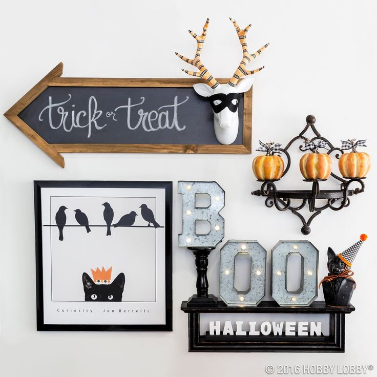 Halloween decorations - Gallery wall Take your Halloween decor to - hobby lobby halloween decorations