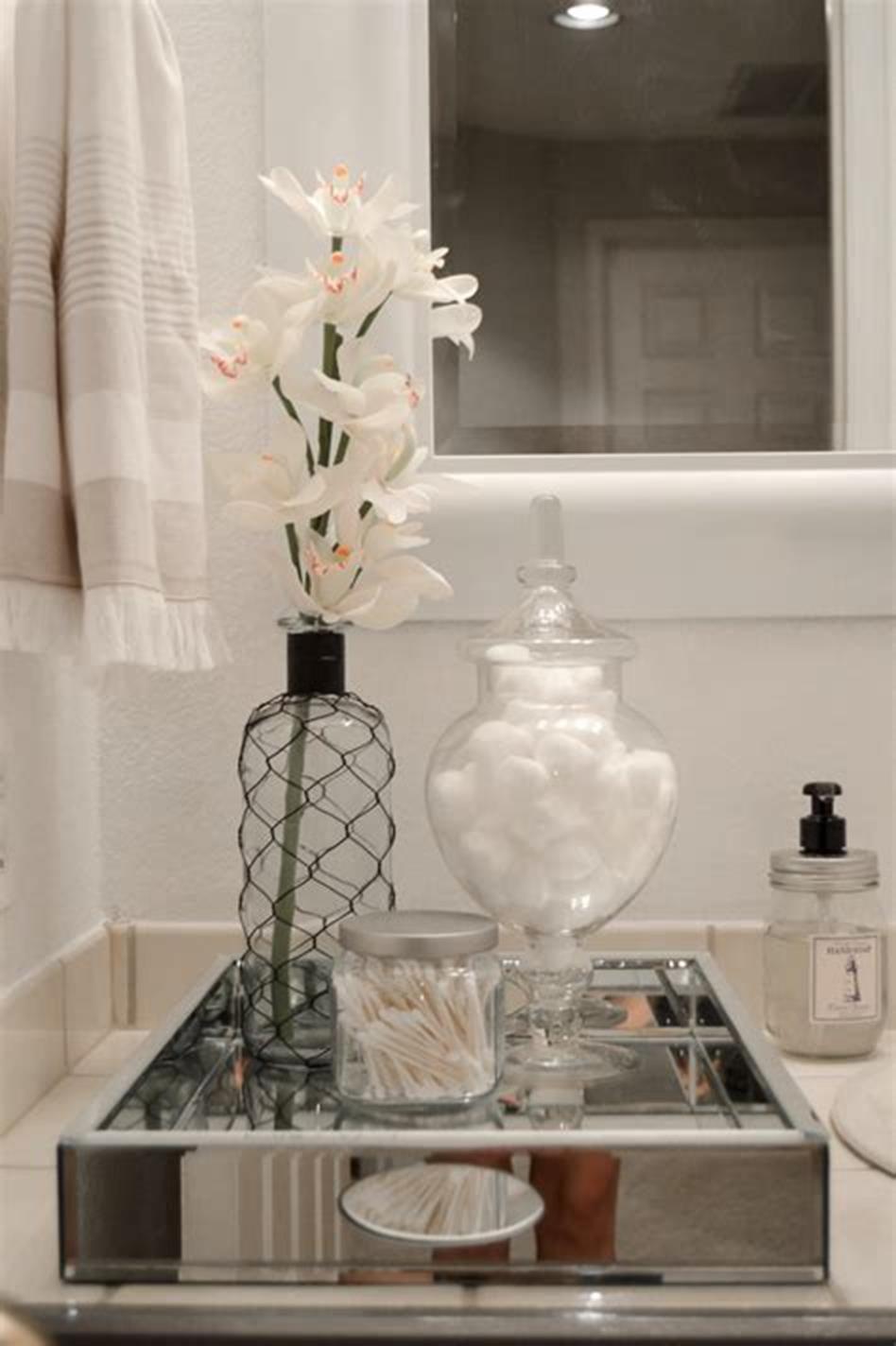 40 Beautiful Bathroom Vanity Tray Decor Ideas Decorecent Beautiful Bathroom Vanity Bathroom Vanity Tray Vanity Tray Decor