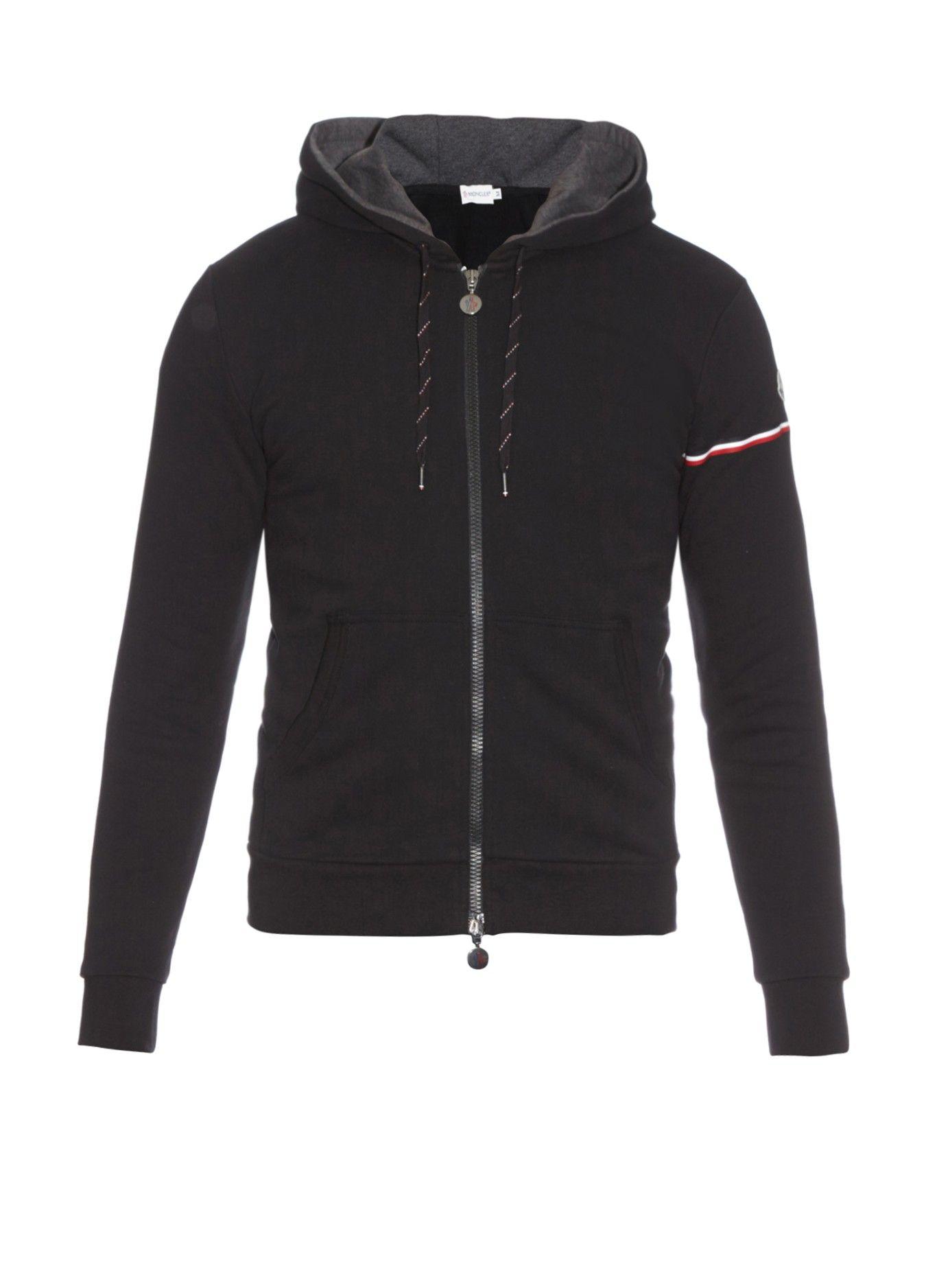 8fcc18a41 Logo-stripe cotton hooded sweatshirt | #Moncler | MATCHESFASHION.COM ...
