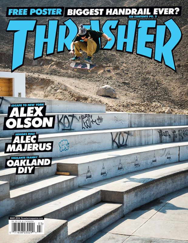d7c56a3da13d Torey Pudwill featured on the March cover of Thrasher Magazine ...