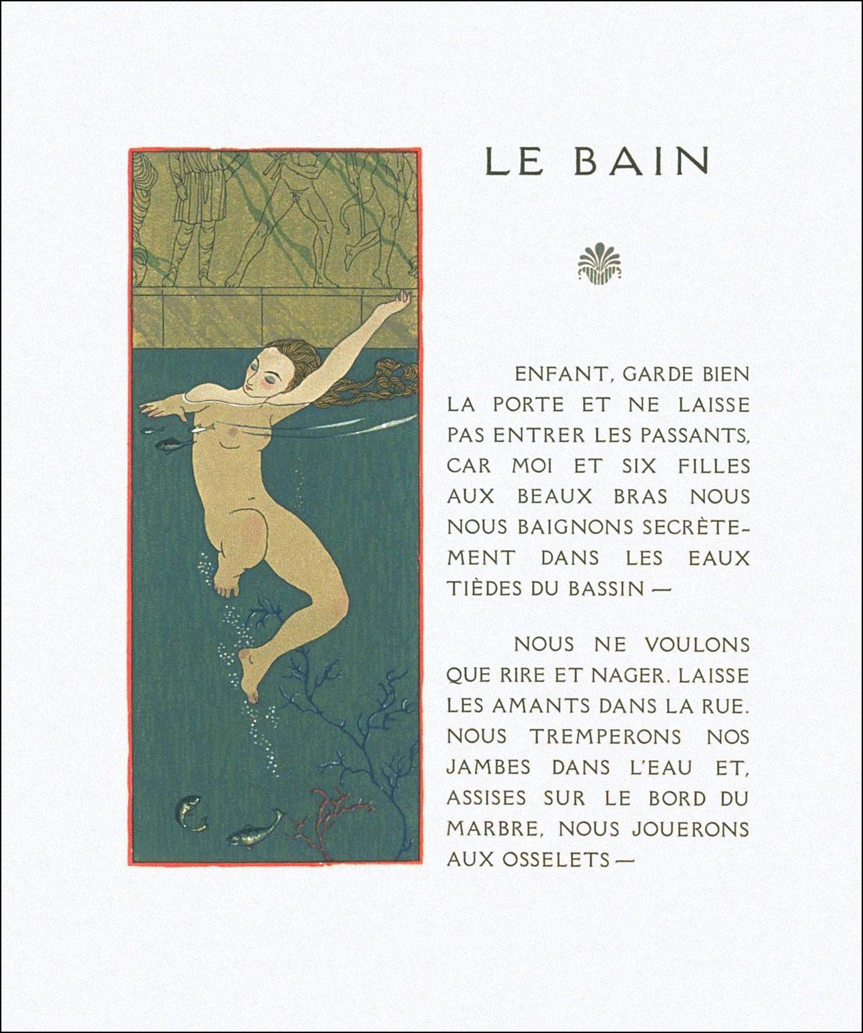 Les Chansons De Bilitis Ill George Barbier Book Graphics Art Deco Illustration Sketch Book A Level Art