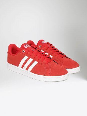 buy adidas neo men red cloud foam advantage suede sneakers