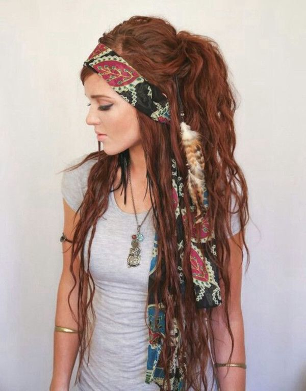 Brown Hairs Hippie Hairstyles Dreads Tumblr In 2019 Hippie