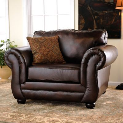 Gracia Chocolate Bonded Leather Arm Chair Lovely Chair