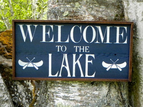 Welcome To The Lake Signs Decor Fascinating Come Sit On My Porch Sign White Simple Rusticcrowbardsigns Decorating Inspiration