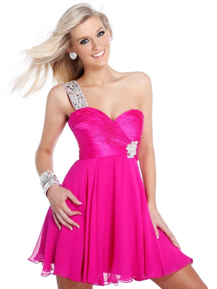 whatgoesgoodwith.com hot pink formal dress (07) #cuteoutfits | All ...