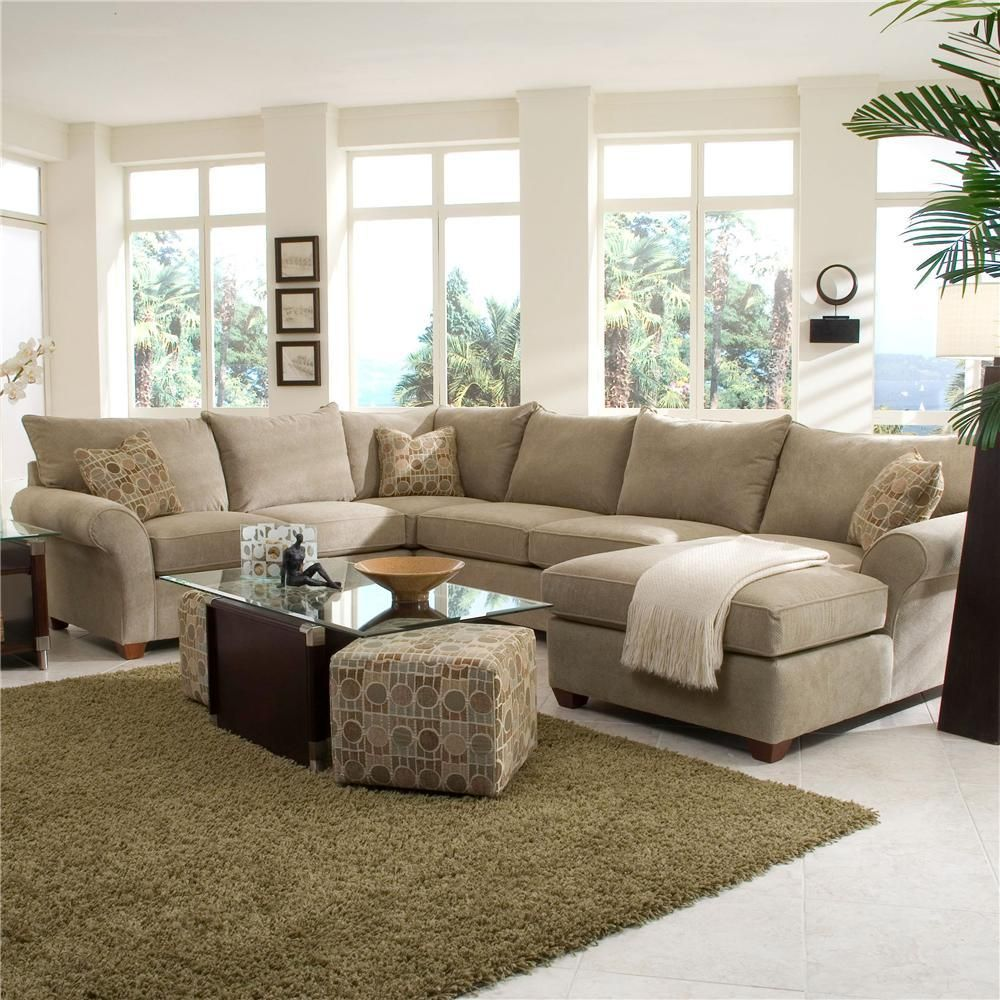Fletcher Spacious Sectional with Chaise Lounge by Klaussner - Wolf Furniture - Sofa Sectional Pennsylvania : sectional sofa with chaise and recliner - islam-shia.org