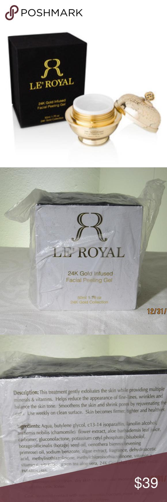 Le Royal 24k Gold Infused Facial Peeling Gel Le Royal 24k Gold Infused Facial Peeling Gel Le Royal Makeup In 2020 24k Gold Infused Gel