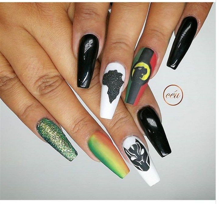 Trendy Black Panther Nail Art that are straight out of Wakanda | Black  panther, Black and Nail nail - Trendy Black Panther Nail Art That Are Straight Out Of Wakanda