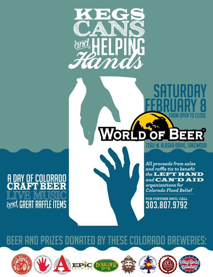 Kegs Cans and Helping Hands Co Fundraiser to help CO