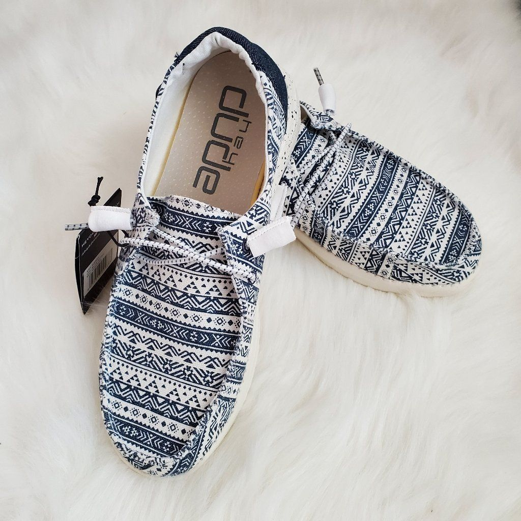 Hey Dude Shoes | Hey Dude Women'S Shoes | Color: Blue/White | Size: 6