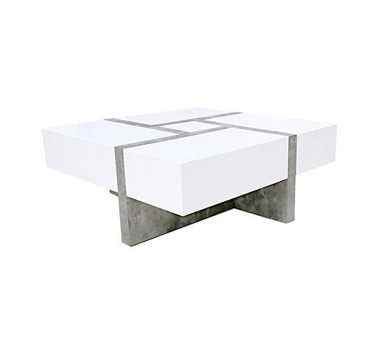 Basse Square Blanc Béton Et En Table 2019Aspect 0OPN8nkwX