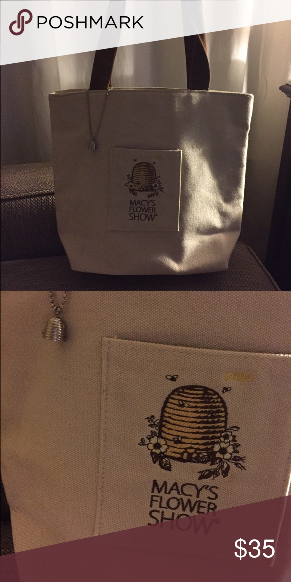 nwot limited edition macy s tote bag beige canvas tote bag with
