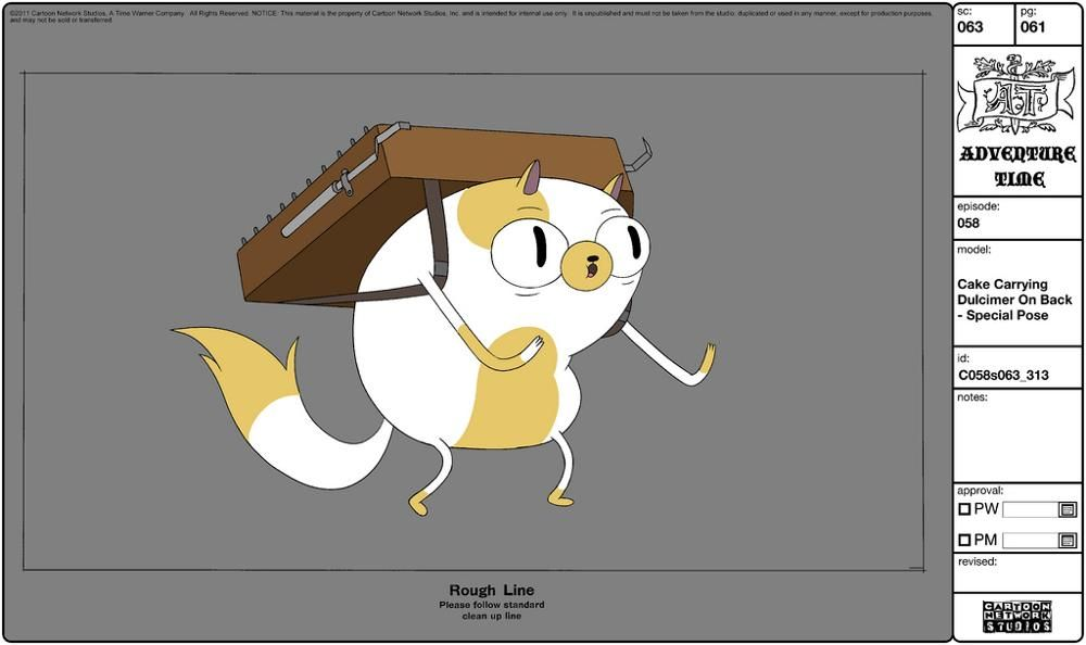 Cake Model Sheet For The Fionna And Cake Episode Of Adventure Time