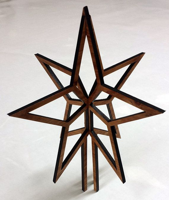 Christmas Tree Topper Natural Oak Star Order By Thatstencillaser Christmas Tree Toppers Diy Tree Topper Tree Toppers