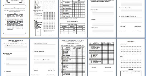 Contoh Raport Paud Kelompok Bermain Kb Dan Berkas Lainnya Download File Format Docx Microsoft Word Microsoft Pendidikan Belajar