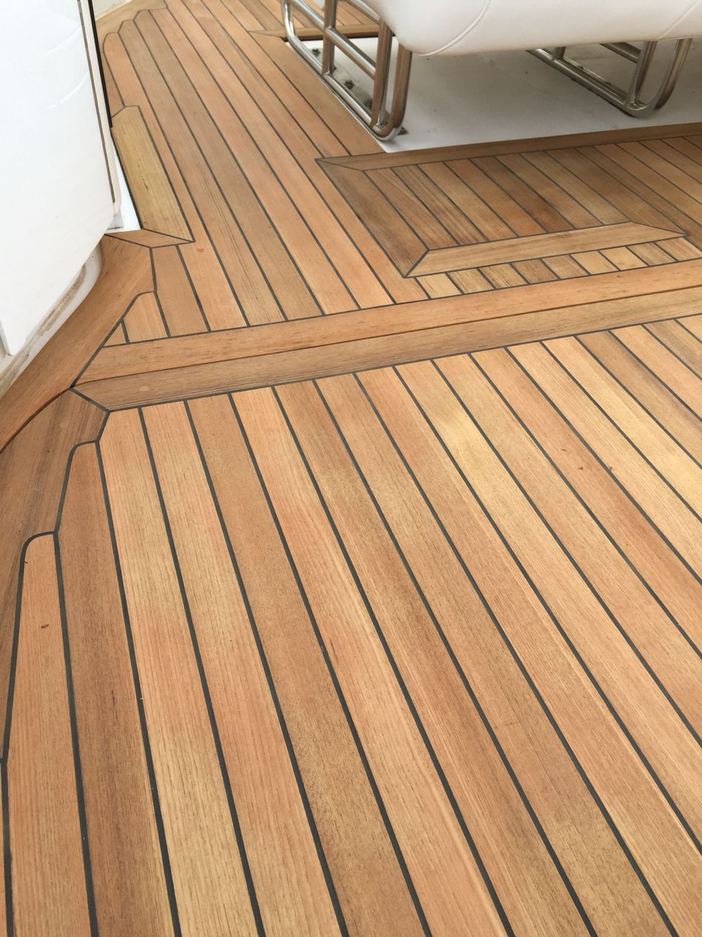 New Teak Decking Cockpit On Fountain Go Fast Boat Teak